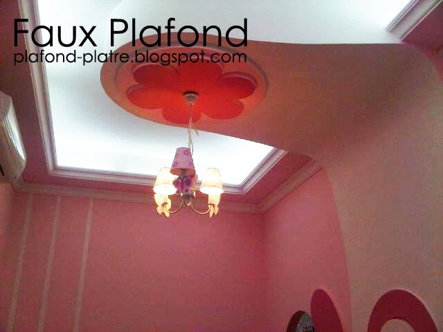 Decoration faux plafond designplafond for Faux plafond chambre fille
