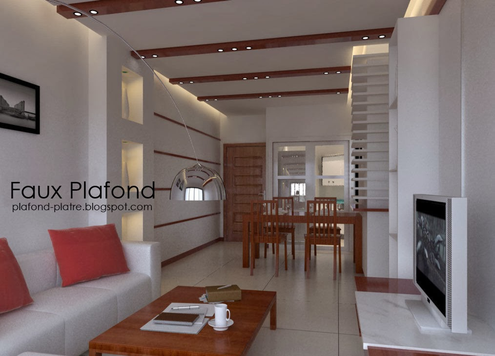 Faux plafond suspendu designplafond for Decoration platre salon