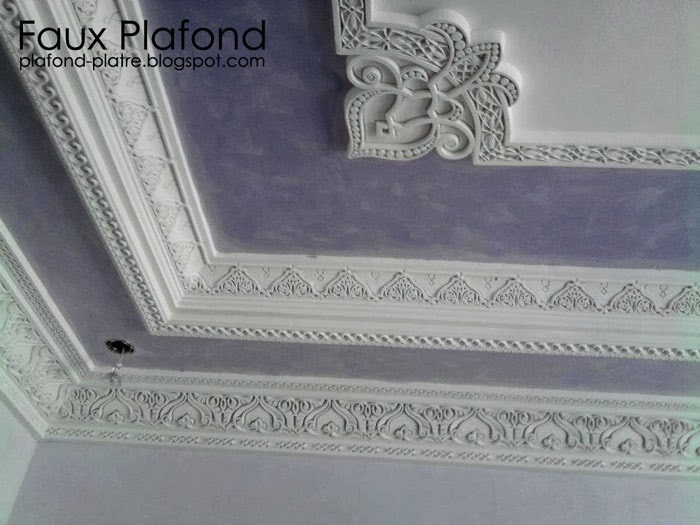 Corniche platre designplafond for Decoration platre de salon