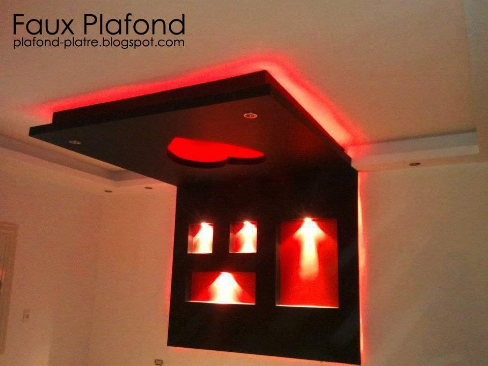 Plafond chambre couche designplafond for Faux plafond pour chambre a coucher