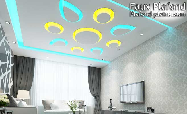 Faux plafond designplafond for Salon faux plafond
