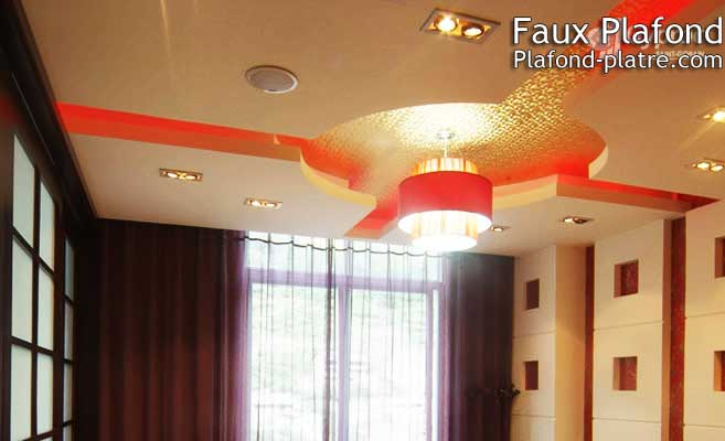 Decoration plafond designplafond for Faux plafond 2016